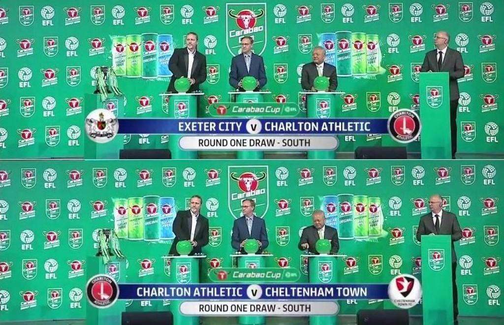 TO KAMPER: Charlton ble satt opp i to kamper i ligacupens første runde.