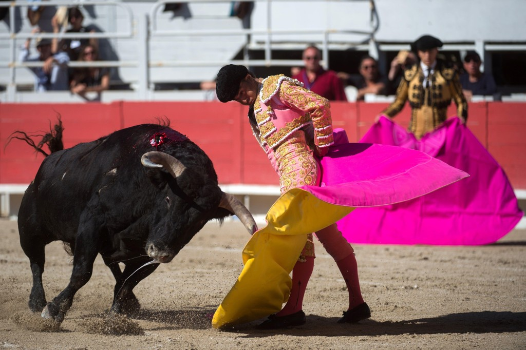DØDE I RINGEN: Den spanske matadoren Ivan Fandino døde etter at han snublet i sin egen kappe. Her avbildet like før ulykken.