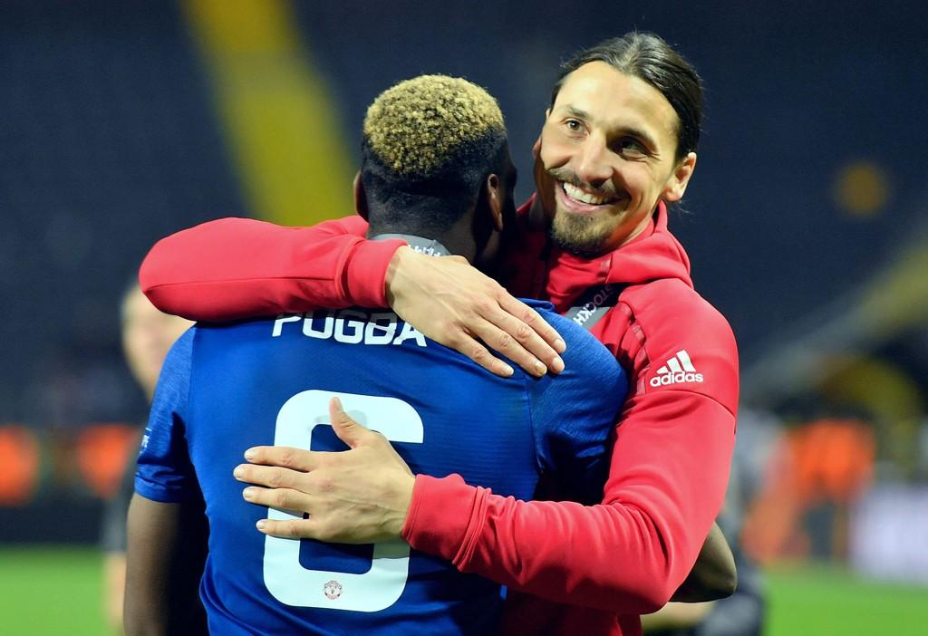 PLANEN LIGGER KLAR: Zlatan Ibrahimovic. Her sammen Paul Pogba under feiringen av europaligatriumfen i finalen mot Ajax på Friends Arena i Stockholm.