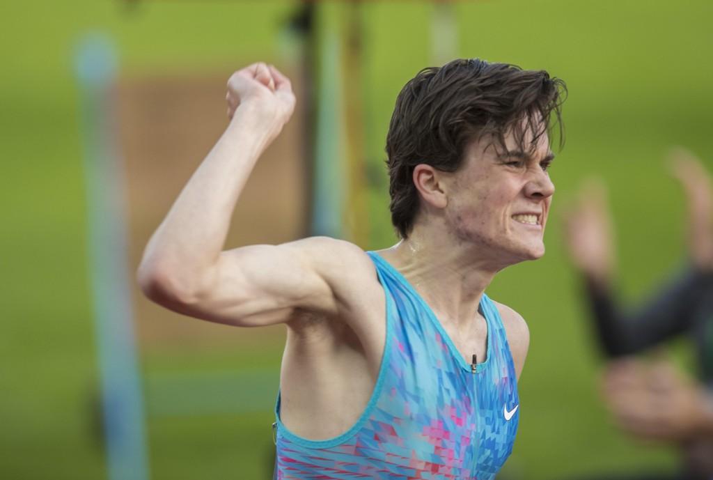 1500 METER: Jakob Ingbrigtsen løp 1500 meter på Diamond League-stevnet i Stockholm søndag. Bildet er fra torsdagens drømmemil på Bislett.
