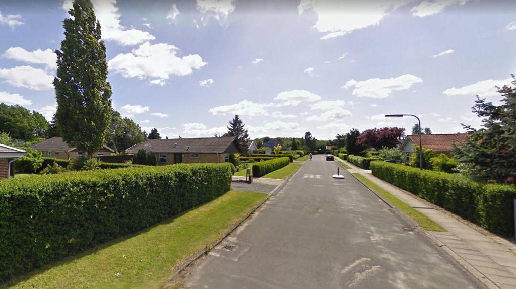 DREPTE DATTER: Familien bodde i dette boligområdet da mannen drepte datteren.