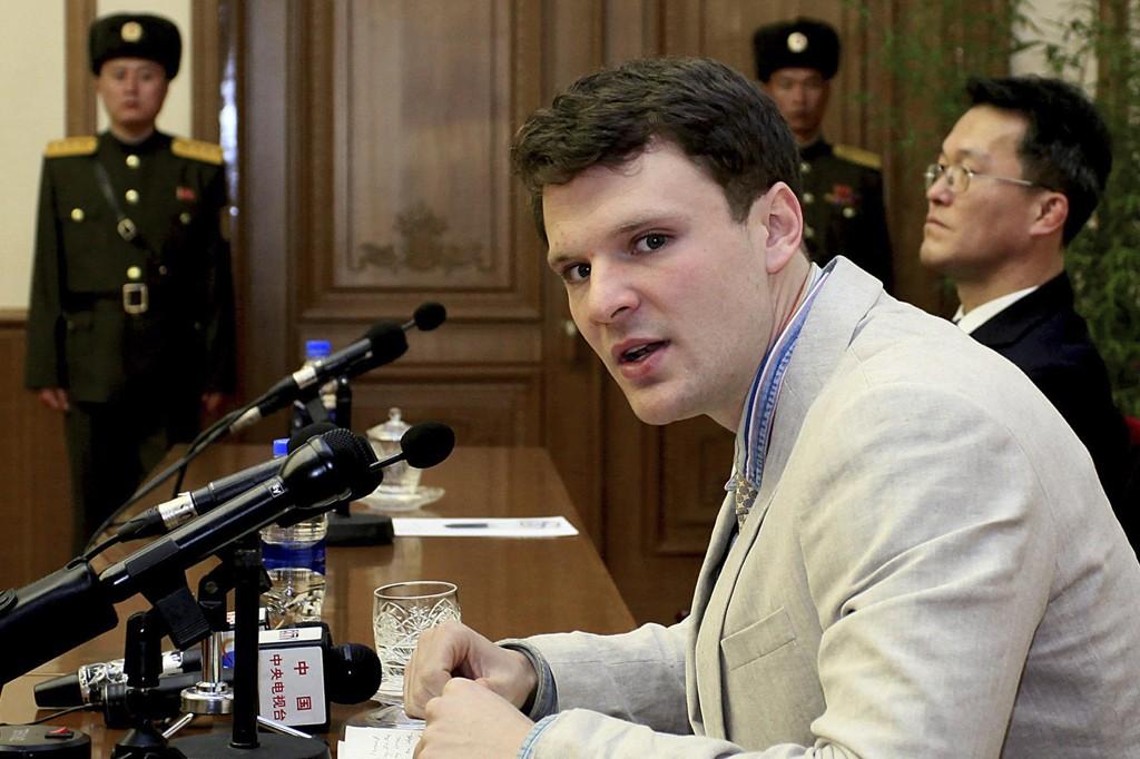 Nord-Korea løslot den amerikanske studenten Otto Warmbier av humanitære grunner. Mandag døde han.