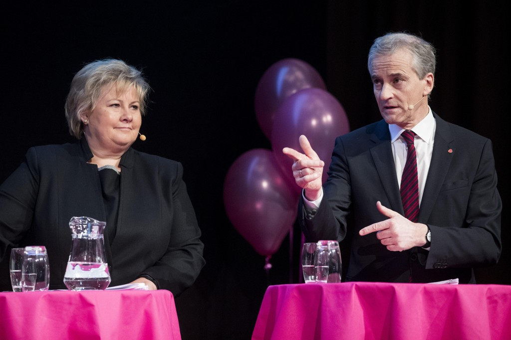 Statsminister Erna Solberg (H) og leder i Arbeiderpartiet Jonas Gahr Støre bør bli enige om å bytte ut formueskatten mot økt skatt på eiendom.