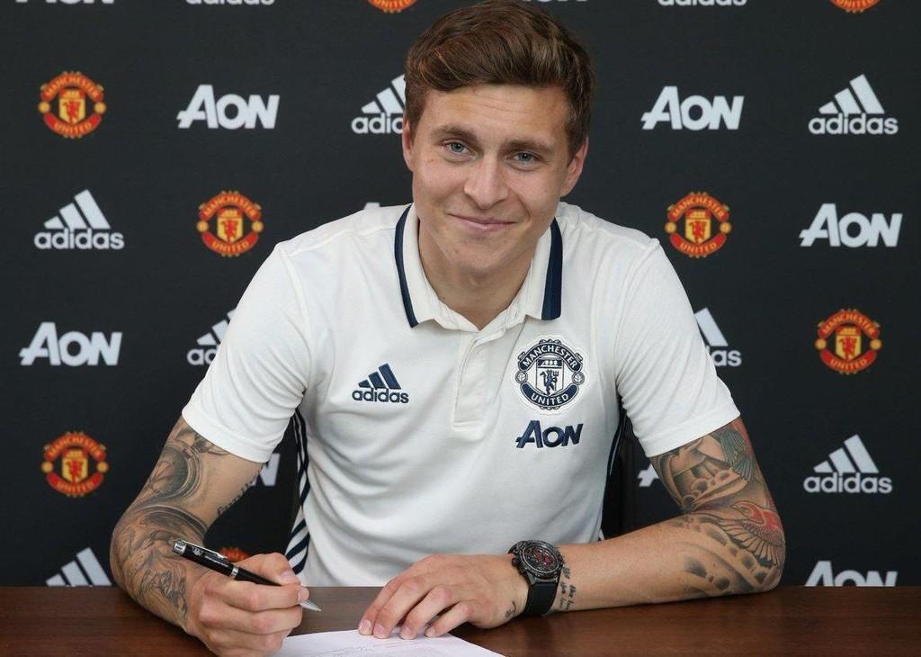SIGNERTE: Victor Lindelof har signert for Manchester United.