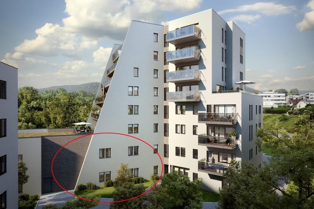 UTEN BARN: Her i de to første etasjene i boligprosjektet Nybyen på Økern Oslo skulle barnehagen ligge som byrådet i Oslo ikke vil gi driftstilskudd til. Nå blir den bygget, men lokalet blir stående tomt.