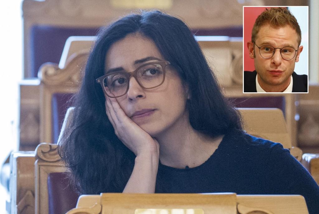 STEMTE NEI: Onsdag i forrige uke stemte nestleder Hadia Tajik og resten av Ap-representantene nei til et forslag fra SV om å fjerne kuttene i barnetillegget. Det får SVs Snorre Valen til å reagere. Foto: Terje Pedersen / NTB scanpix
