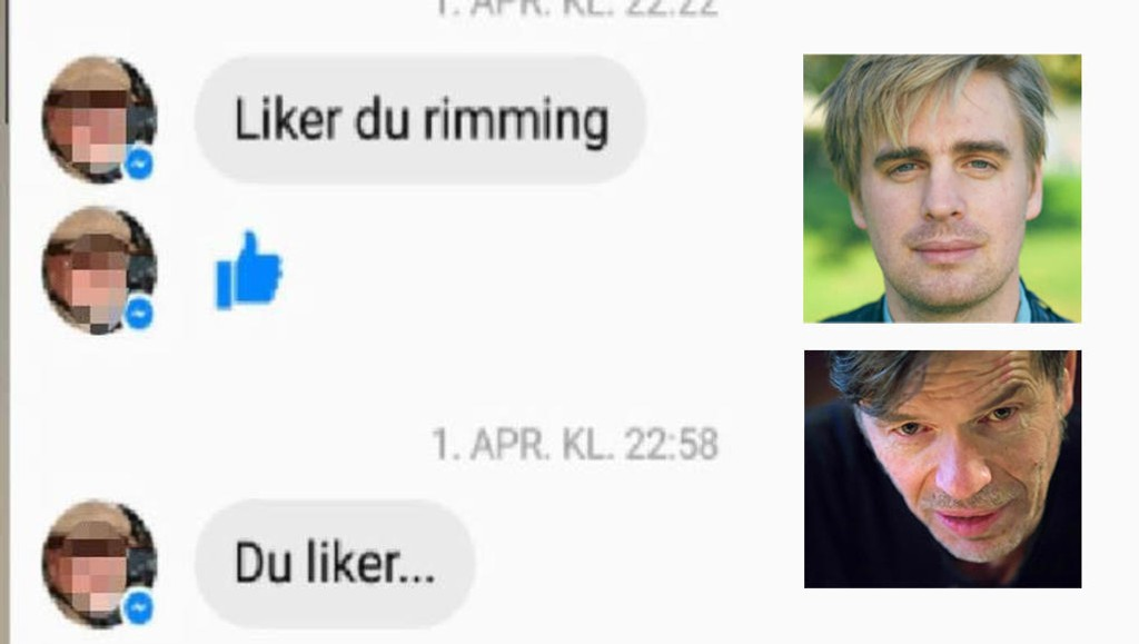 Samfunnsdebattantene Eivind Trædal og Kjetil Rolness krangler om slibrige meldinger fra professor.