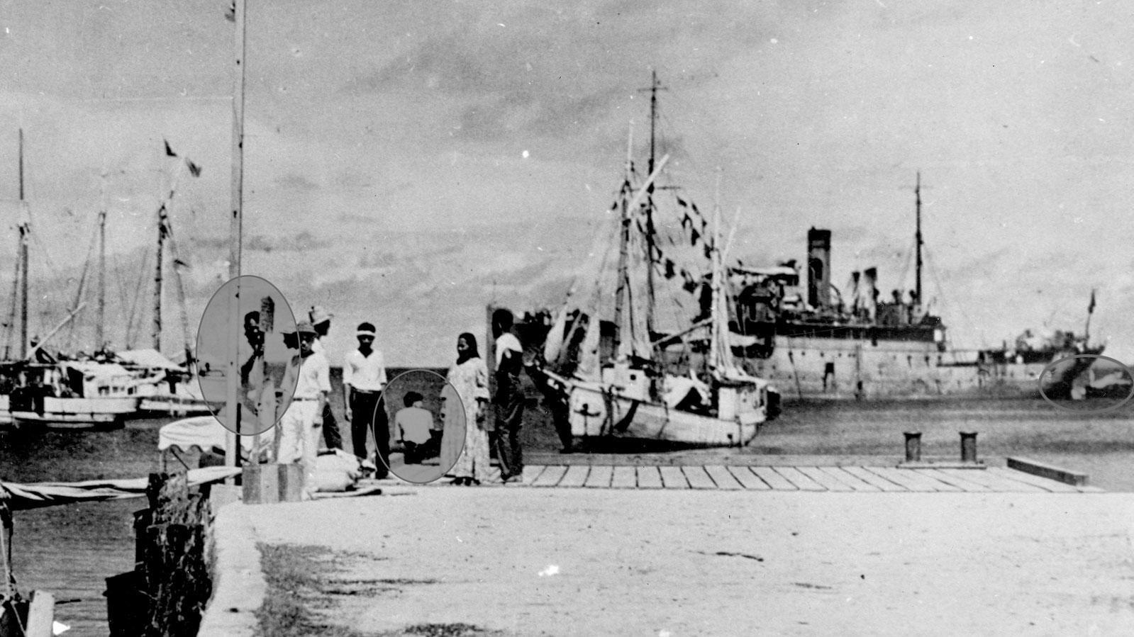 HISTORY CHANNEL mener at dette bildet viser Fred Noonan og Amelia Earhart.