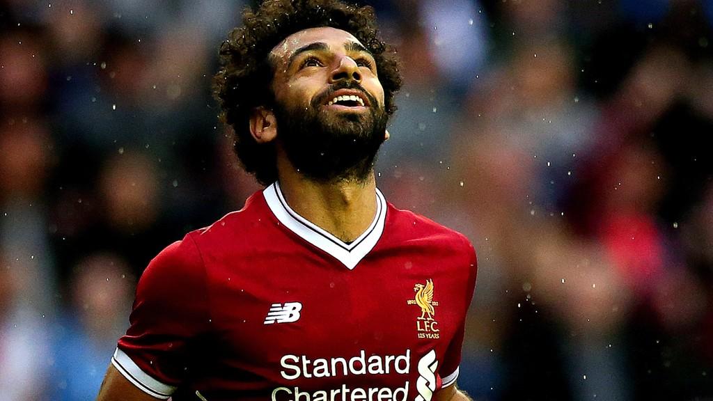 Mohamed Salah kom på scoringslisten i sin første kamp for Liverpool. Her er han avbildet fra tiden i Roma.