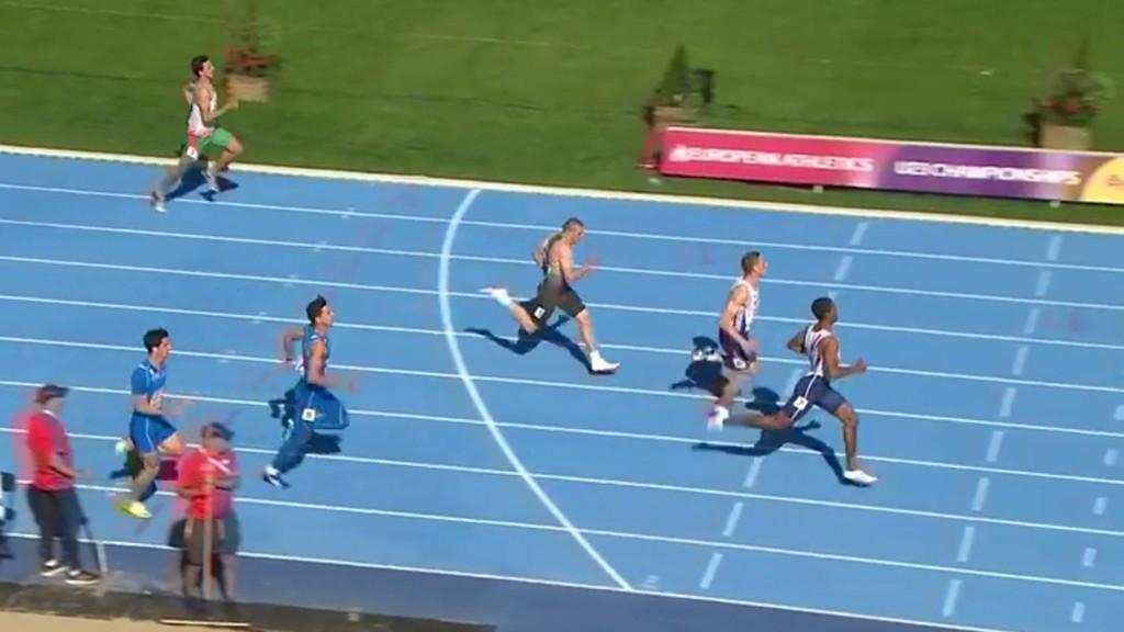 Jonathan Quarcoo stormer inn til seier i semifinalen i U23-EM og setter ny norsk u23-rekord med tiden 20,39.