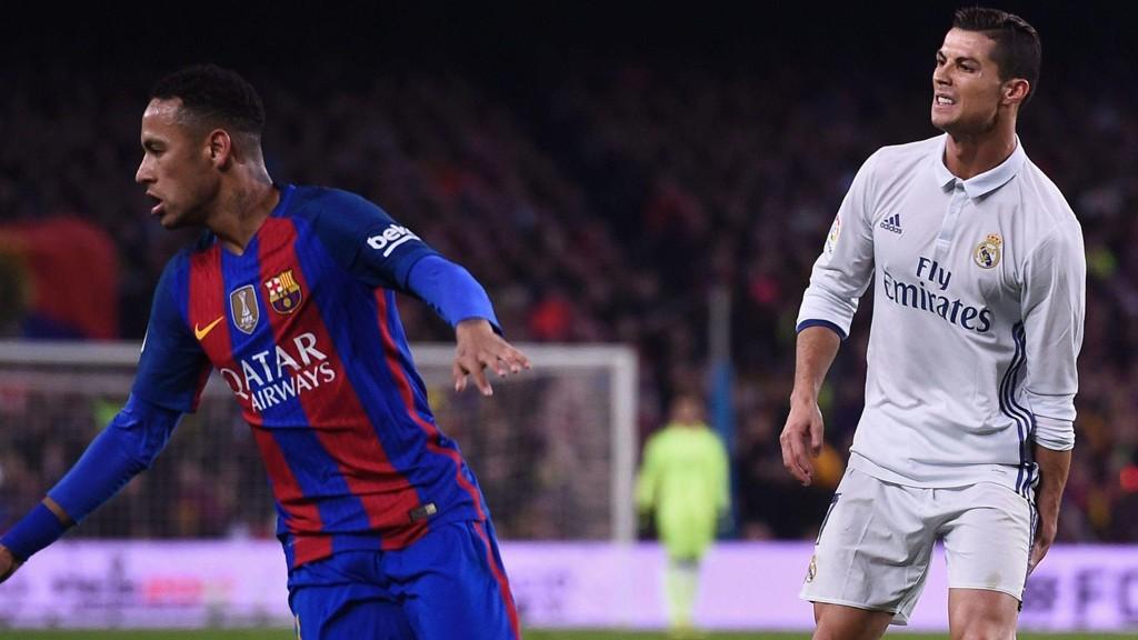 BLANDET SEG? Real Madrids Cristiano Ronaldo skal ha sendt overgangsråd til Neymar.