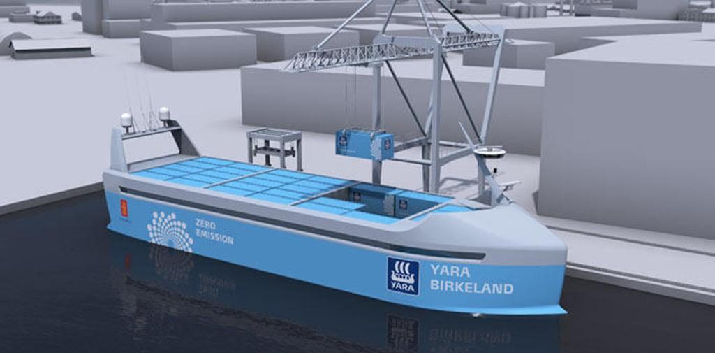 السفينة يارا بيركيلاند هي أول سفينة ذاتية التشغيل في العالم.