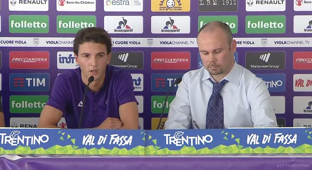 FIORENTINA: Rafik Zekhnini er på plass hos sin nye klubb, Fiorentina.