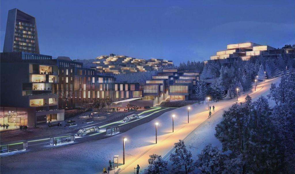 NY BY: Slik kan den nye byen på Avtjerna i Bærum bli seendes ut.