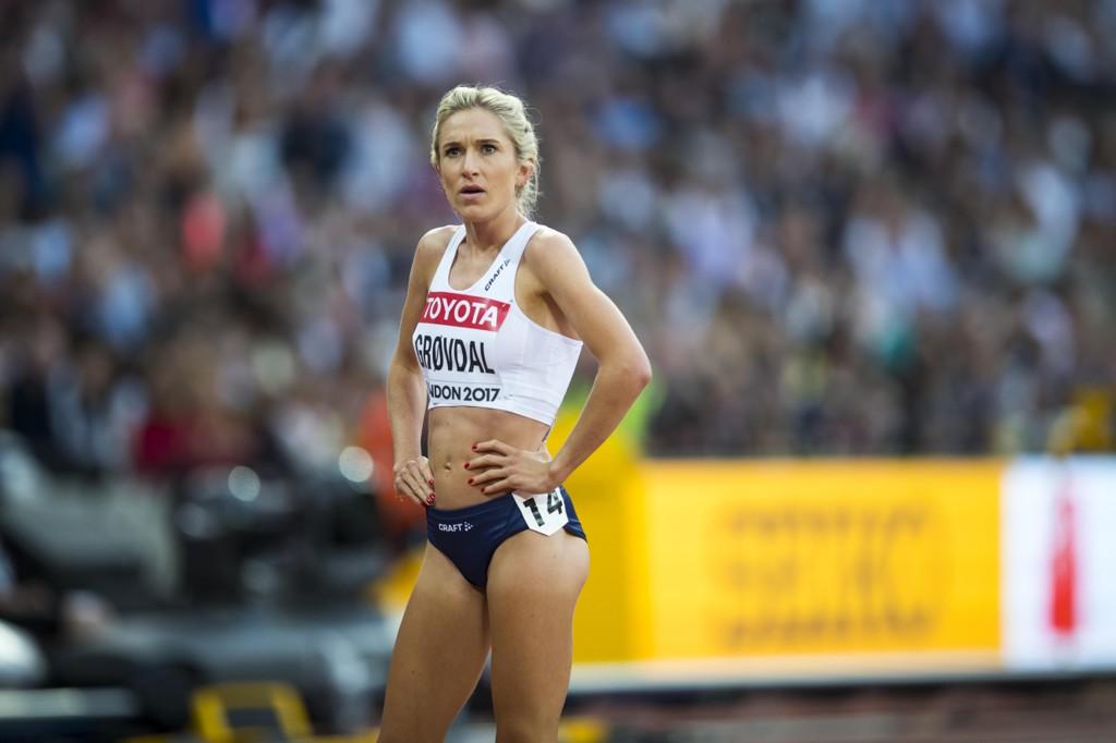 FINALEKLAR: Karoline Bjerkeli Grøvdal er finaleklar på 5000 meter i London. Her tidligere i mesterskapet.