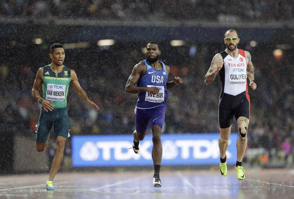 VANT: Ramil Guliyev, her fra semifinalen, tok gull på 200-meteren i London.