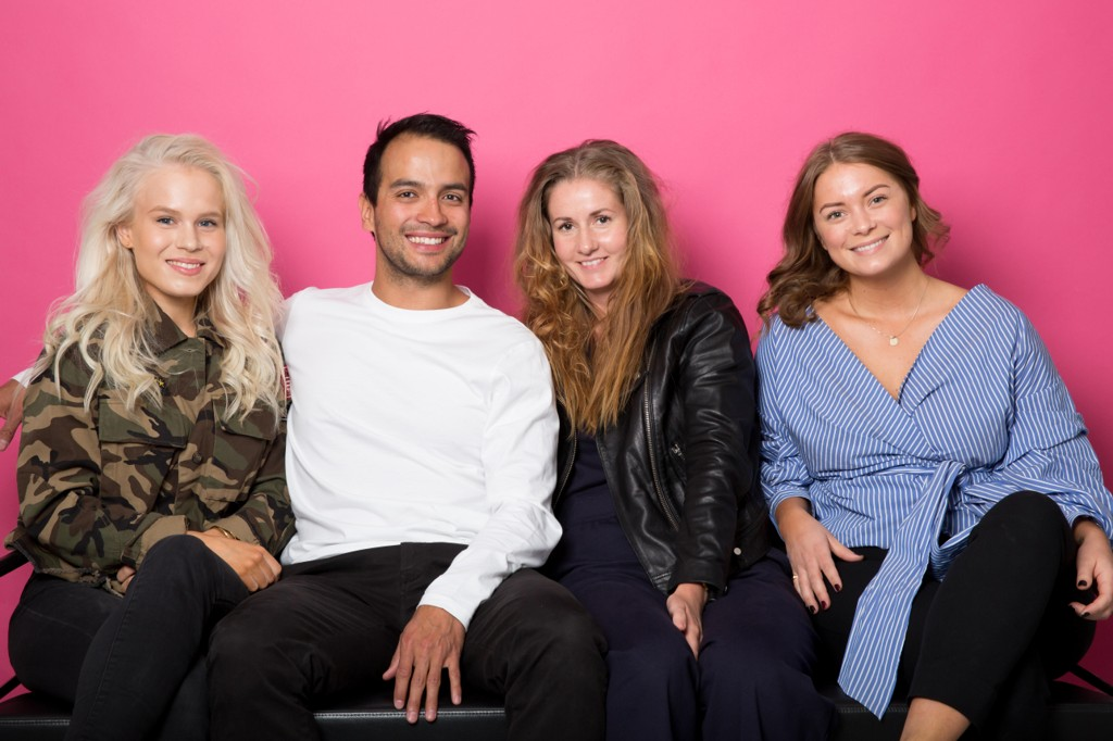 Side2blogg-gjengen: Astrid-Helen Holm (f.v.), Lars Erik Oterhals, Guro Holmene og Kristin Hofsli.
