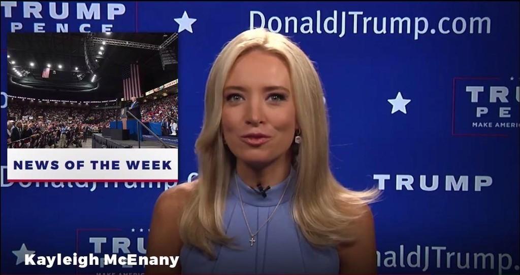 Dagen etter at hun sluttet i CNN, var Kayleigh McEnany klar med gode nyheter fra Trump Tower i New York.