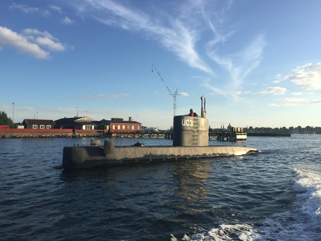 Den hjemmelagde ubåten som sank fredag, fotografert i København torsdag.