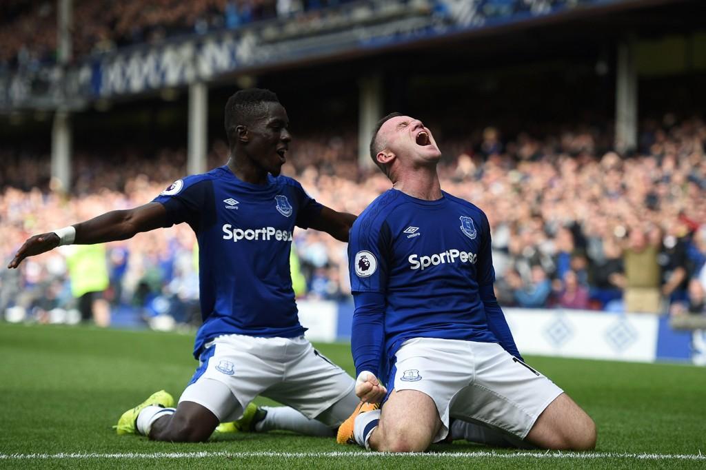SCORET: Wayne Rooney scoret i Everton-comebacket.