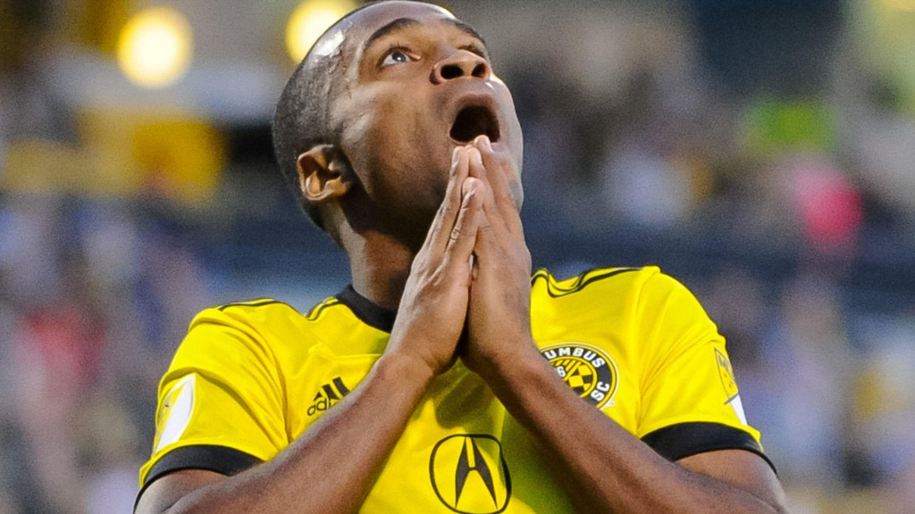 Ola Kamara scoret én gang da Columbus Crew slo Chicago Fire 3-1 i MLS natt til søndag. Her fra en tidligere kamp.