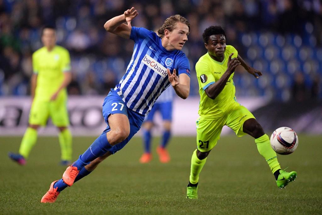 SENTRAL: Sander Berge spilte samtlige minutter da Genk tok sin første seier i den nye sesongen. Det skjedde med en overbevisende 5-3-seier borte mot Antwerpen.