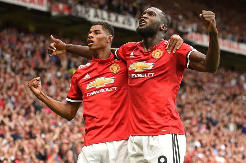SENTRALE: Marcus Rashford stod for den målgivende pasningen da Romelu Lukaku sendte Manchester United i ledelsen mot West Ham.