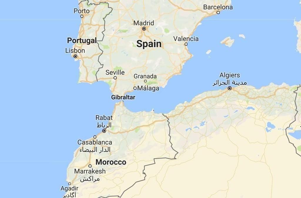 kart gibraltar 600 migranter reddet i Spania kart gibraltar