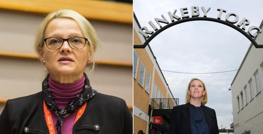 Sveriges migrasjonsminister og visejustisminister Helene Fritzon (Sosialdemokraterna) og Norges innvandrings- og integreringsminister Sylvi Listhaug (Frp).