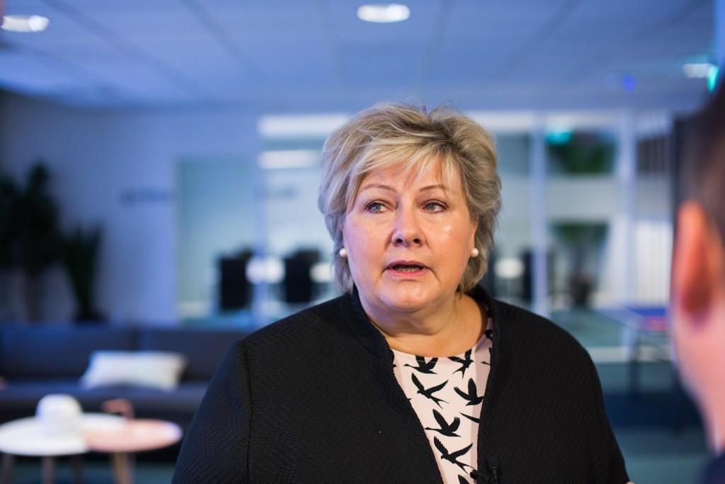 Statsminister Erna Solberg var gjesteredaktør i Nettavisen 1. september 2017.