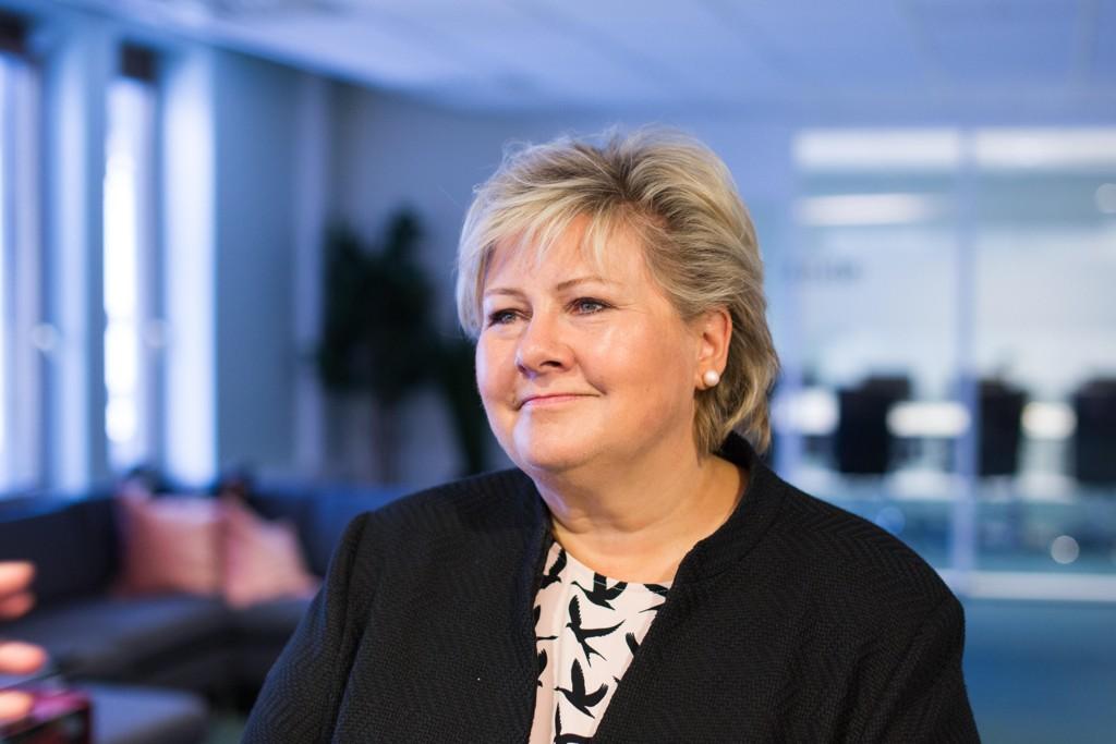 Премьер-министр Норвегии и представитель Консервативной партии Эрна Сульберг.