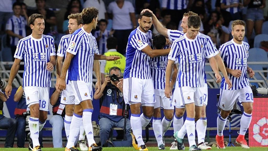 GUTTA KRUTT: Real Sociedad knuste Deportivo La Coruña 4-2. Her fra et oppgjør mot Villarreal tidligere denne sesongen.