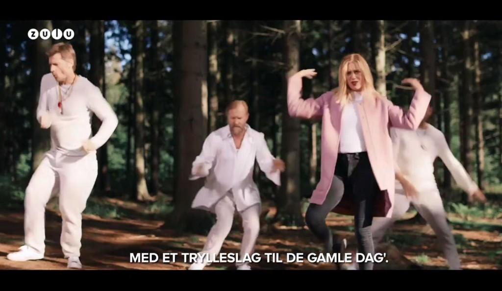 Nicolai Coster-Waldau og Josefine Frida Pettersen medvirker i «Polen smelter» som ble vist under danske TV 2 Zulu sin humorgalla.