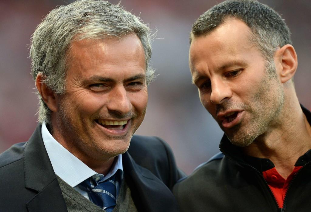 USIKKER: Ryan Giggs (høyre) er usikker på José Mourinho og Manchester Uniteds sjanser i Champions League.