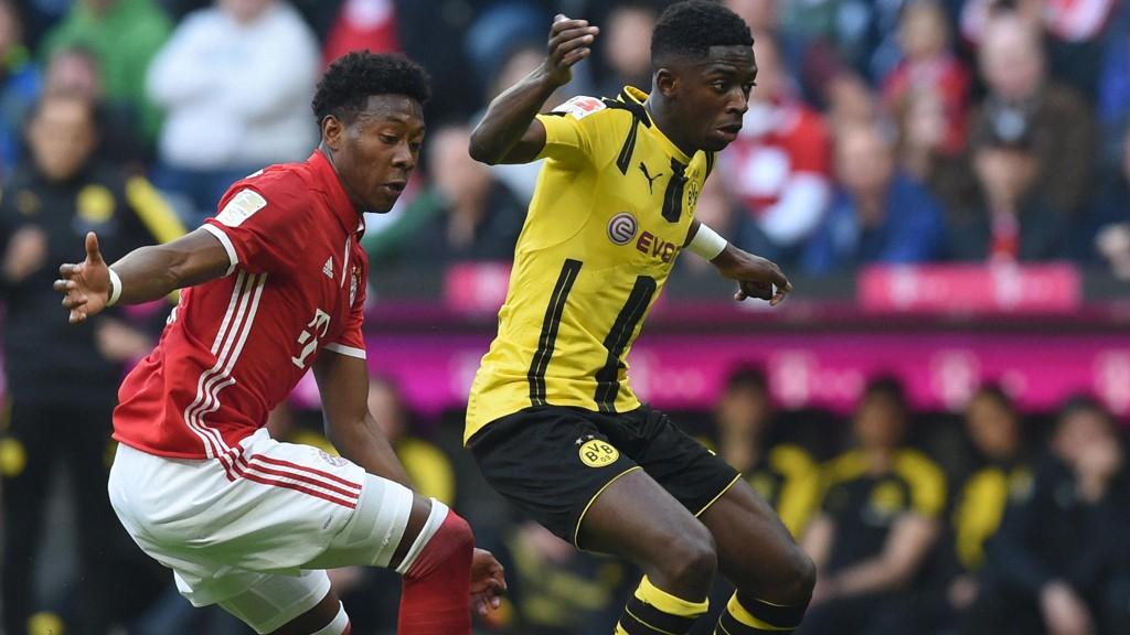 VIL STENGE VINDUET TIDLIGERE: Ousame Dembele (t.h.) ble solgt fra Borussia Dortmund til Barcelona etter at Bundesliga-sesongen var i gang i sommer. Nå vil den tyske ligaen trolig følge Premier Leagues eksempel og vedta en innkorting av overgangsvinduet.