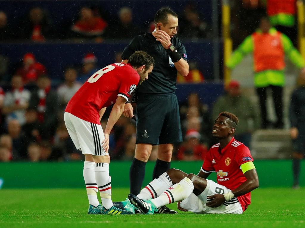 SKADET: Paul Pogba kan være ute i opptil seks uker.