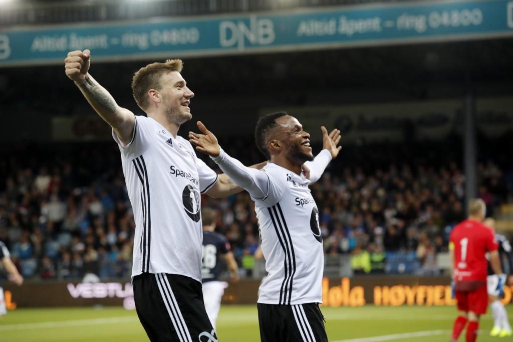 Nicklas Bendtner og Samuel Adegbenro er to sterke offensive kort for Rosenborg.