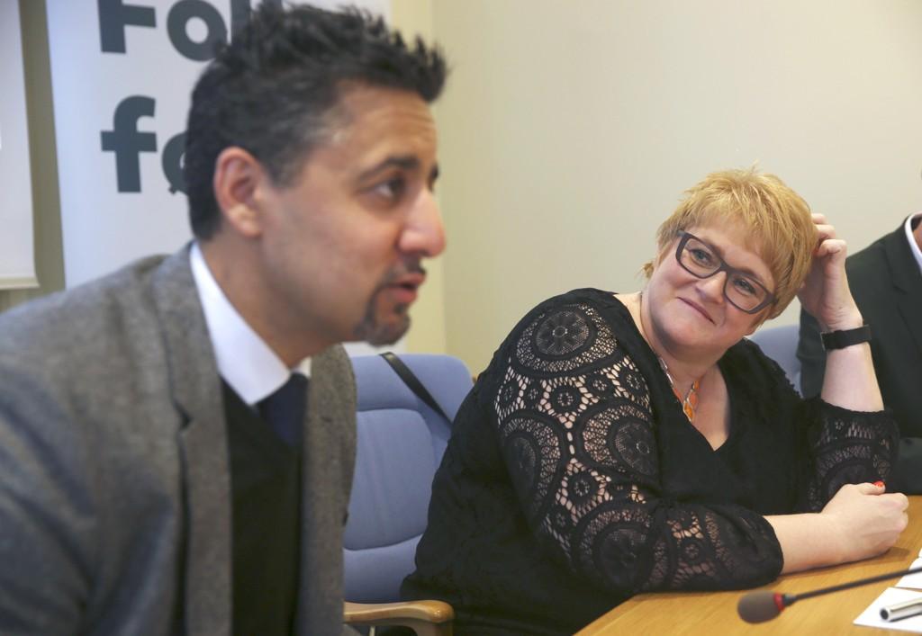 STATSRÅDER? Venstres leder Trine Skei Grande og gjenvalgt stortingsrepresentant for Akershus Abid Raja, nevnes begge som mulige statsråder om Venstre skal inn i regjering.
