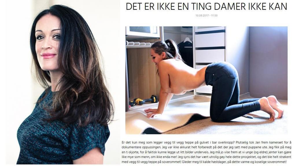 PUPPESTUNT: Etter Anna Rasmussen delte dette bildet, har en rekke bloggere delt lignende bilder. Selv sier de det handler om likestilling. - Jeg blir oppgitt og lei over at vi skal bruke puppene som vårt fremste våpen i likestillingskampen, sier KK-redaktør Ingeborg Heldal.