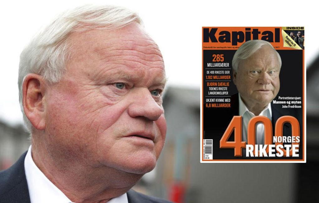 RIKEST AV DE RIKE: Skipsreder John Fredriksen troner på topp på Kapitals 400-liste over Norges rikeste.