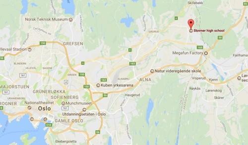 Stovner videregående skole nordøst i Oslo.