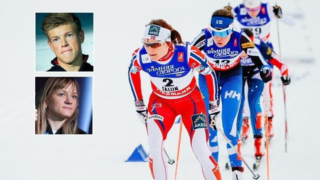 SPENTE: Maiken Jaspersen Falla og Johannes Klæbo kan rammes av nye sprintbestemmelser om forslagene til FIS går gjennom.