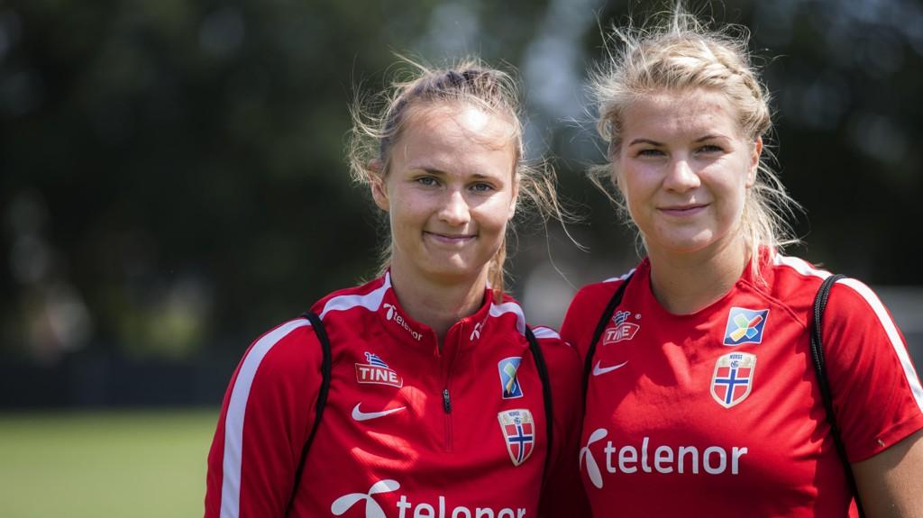 IMPONERER: Caroline Graham Hansen og Ada Hegerberg imponerer for hver sin klubb.