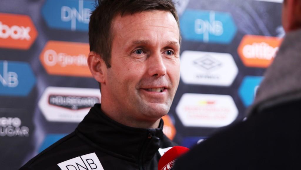 En fornøyd Ronny Deila etter eliteseriekampen i fotball mellom Vålerenga og Brann for et par uker siden.