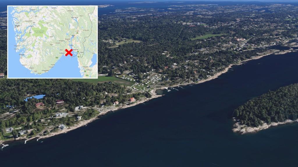 SAVNET: Det var i dette området kajakkpadleren dro ut torsdag formiddag. Han ble meldt savnet ved 21-tiden.