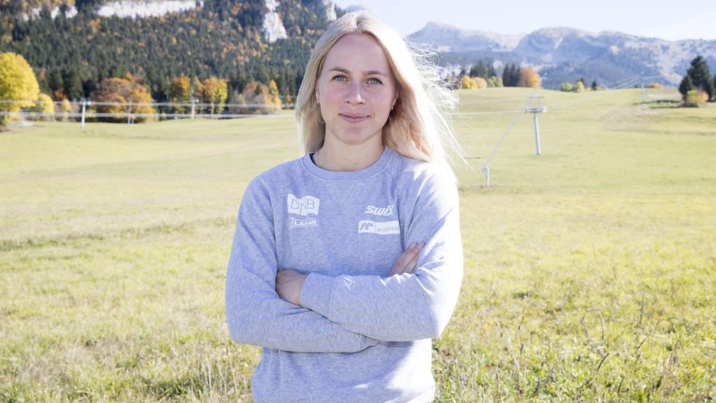 SNART NY SESONG: De norske skiskytterne og Tiril Eckhoff trener i de franske alper.