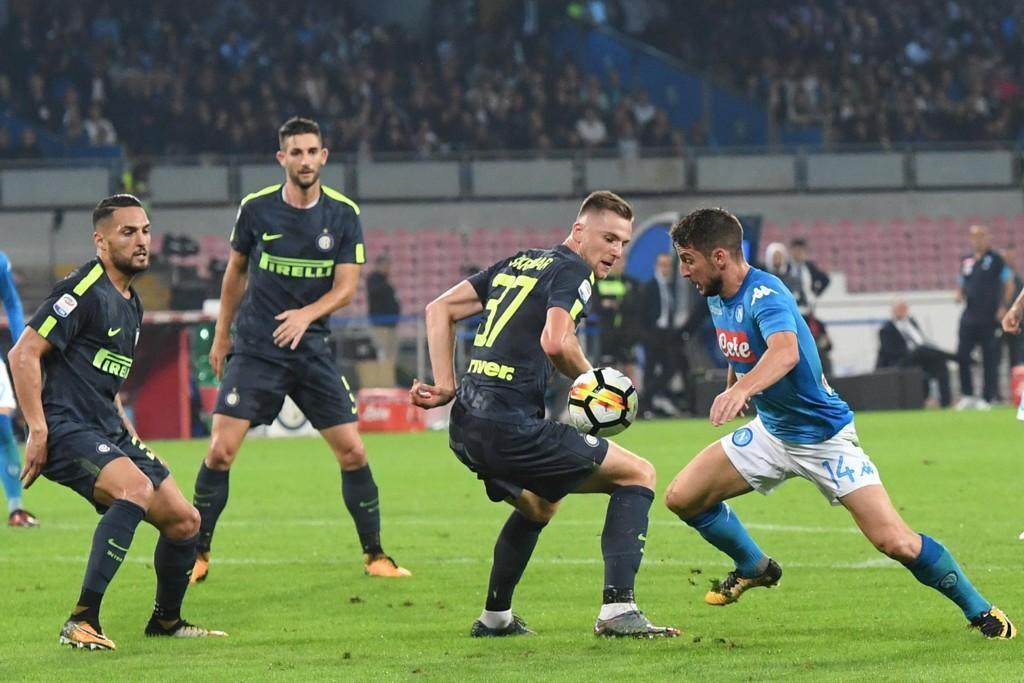 MÅLLØST: Napoli og Dries Mertens (høyre) spilte 0-0 mot Inter lørdag.