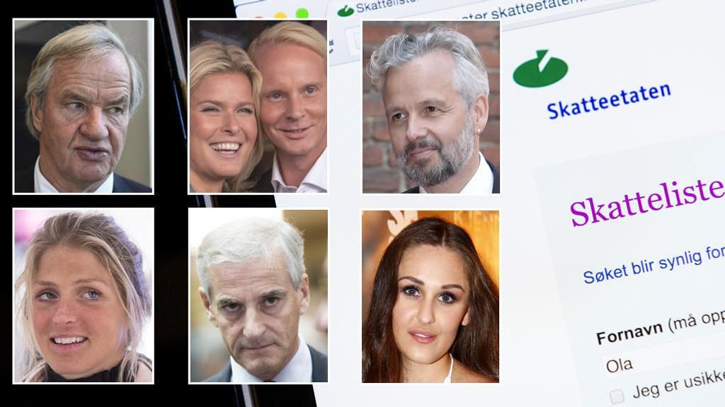 SKATTETALL: Inntektstallene for flere norske profiler ble publisert fredag.