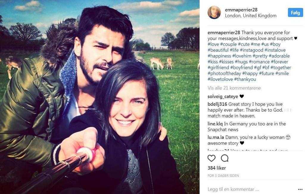 En kjærlighetshistorie av de uvanlige går viralt på internett, og det er lett å forstå hvorfor. Det som så ut til å ende i skuffelse for Emma Perrier (34), tok nemlig en helt annen retning da hun tok saken i egne hender.