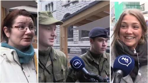OVERRASKET: Stina Åmo (t.v), Øyvind Johansen, Marco Angvik og Malin Lilleslåtten blir alle overrasket over at det er et utekontor i Oslo.